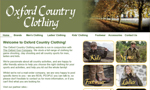 Oxford Country Clothing Website thumbnail