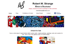 Robert Strange Art website thumbnail